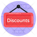 Discount Label Discount Board Hanging Board Icon