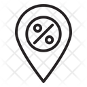 Discount Location Geolocation Global Location Icon