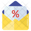 Discount Mail Discount Offer Offer Mail Icon
