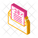Message Discount Isometric Icon