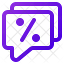 Discount Message Icon