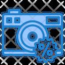 Discount On Camera Icon