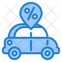 Discount On Car Icon