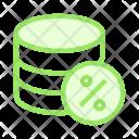 Percentage Mainframe Storage Icon