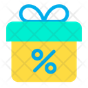 Discount On Gift Icon