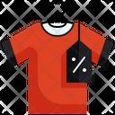 Discount On Tshirt Sale On Tshirt Price Tag Icon