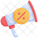 Megaphone Advertising Announcement Icon