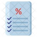 Discount Sheet Icon