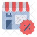 Discount Storefront Shopping Icon