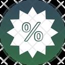 Discount Sticker Percentage Sign Marketing Icon