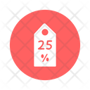 Discount Tag New Year Occasion Celebrations Icon