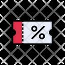 Discount Ticket Riffle Icon