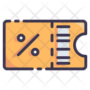 Ticket Coupon Discount Icon
