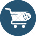 Discount With Cart Percentage With Cart Buy Online Icon