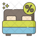 Discounted Rooms Discound Offer Icon