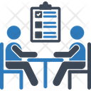 Discuss Business Meeting Meeting Icon
