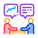 Human Discussing Strategy Icon