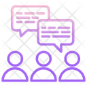 Discussing M Discussing Users Discussion Icon