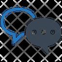 Chat Conversation Speech Bubbles Icon