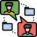Online Communication Meeting Icon