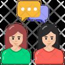 Gossips Discussion Conversation Icon