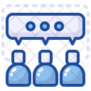 Discussion Team Work Communication Icon