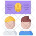 Discussion Talk Coin Icon