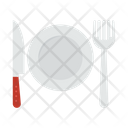 Dish Plate Fork Icon