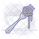 Dish Fork Pasta Icon