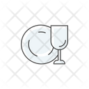 Dish Plate Glass Icon