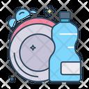 Dish Wash Clean Dish Icon