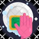 Washing Utensils Cleaning Icon