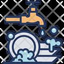 Dish Washing Dish Wash Cleaning Icon