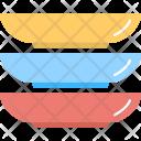Colored Plates Dinnerware Icon