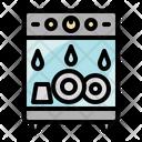 Dishwasher Cleaning Dish Icon