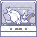 Clean Dishes Dishwasher Icon