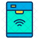Smart Dishwasher Automation Internet Of Things Icon