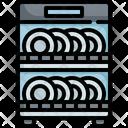 Dishwashing Dishwasher Plate Icon