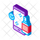 Disinfection Mobile Phone Icon