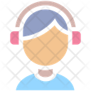 Music Headphones Male Icon