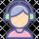 Music Headphones Male Icon