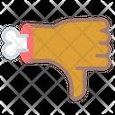 Dislike Bone Gesture Icon