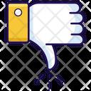 Dislike Thumbs Down Negative Impact Icon