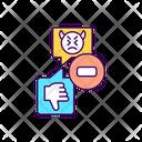 Hate Speech Dislike Icon