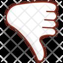 Dislike Hand Gesture Icon