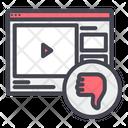 Dislike Video Website Icon