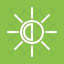 Display Brightness Half Icon