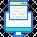 Display Computer Web Page Icon