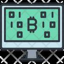 Display Computer Bitcoin Icon