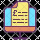 Minvoice Mail Display Invoice Pound Icon